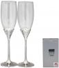 Набор 2 фужера Wedding Fondness для шампанского 220мл, стекло+металл