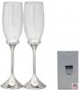 Набор 2 фужера Wedding Karat для шампанского 220мл, стекло+металл