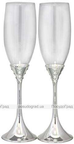 Набор 2 фужера Wedding Grace для шампанского 220мл, стекло+металл