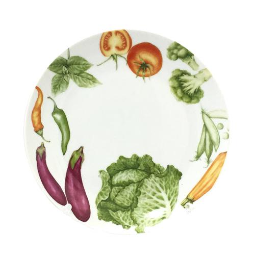 """Набор 6 десертных тарелок """"Овощи"""" Ø19.5см, керамика"""