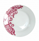 """Набор 6 мелких тарелок """"Кружево"""" Ø20см, керамика"""