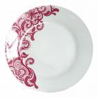"""Набір 6 обідніх тарілок """"Мереживо"""" Ø22.5см, кераміка"""