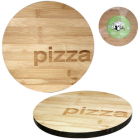 """Доска кухонная """"Pizza"""" Ø30см для пиццы, бамбуковая"""