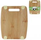 Доска разделочная 25х20см, бамбуковая с силиконовыми вставками