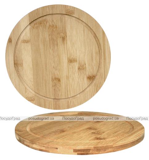 """Доска разделочная """"Bamboo"""" круглая Ø25см, бамбуковая"""
