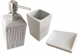"""Набор аксессуаров """"Алмаз"""" для ванной комнаты 3 предмета, керамика"""