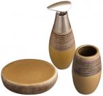 """Набір аксесуарів """"Sahara"""" для ванної кімнати 3 предмета, кераміка"""