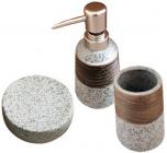 """Набір аксесуарів """"Aqua"""" для ванної кімнати 3 предмета, кераміка"""