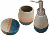"""Набір аксесуарів """"Luxury"""" для ванної кімнати 3 предмета, кераміка"""