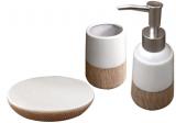 """Набір аксесуарів """"Rest"""" для ванної кімнати 3 предмета, кераміка"""
