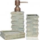 Набор аксессуаров для ванной комнаты «Атлантида» дозатор, мыльница и стакан