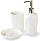 """Набір аксесуарів """"White"""" для ванної кімнати 3 предмета, кераміка"""