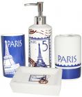 """Набор аксессуаров """"Париж"""" для ванной комнаты 4 предмета, керамика"""