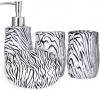 """Набор аксессуаров """"Зебра"""" для ванной комнаты 4 предмета, керамика"""