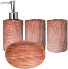 """Набір аксесуарів """"Ольха"""" для ванної кімнати 4 предмета, кераміка"""