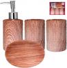 """Набор аксессуаров """"Ольха"""" для ванной комнаты 4 предмета, керамика"""