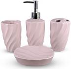Набір аксесуарів Pure для ванної кімнати 4 предмети рожевий, кераміка