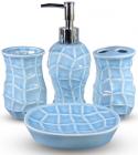 Набір аксесуарів Pure для ванної кімнати 4 предмети блакитний, кераміка