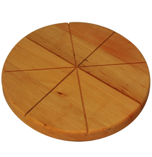 Доска для пиццы Ø27см, деревянная