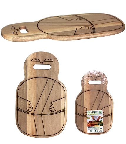 "Доска разделочная ""Самурай"" 42х25см, деревянная"