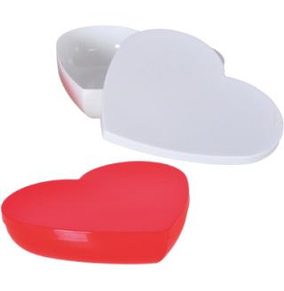 """Конфетница """"Heart"""" 1800мл пластиковое сердце с крышкой"""