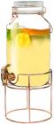 Глечик-банка для лимонаду 4л з краном на сталевій підставці