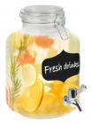 Глечик-банка для лимонаду 2л з краном і кришкою-затяжкою, скло