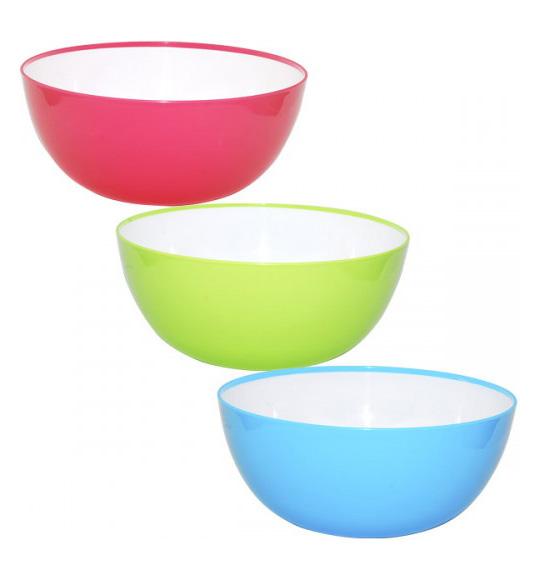 Салатница Rodos пластиковая двухцветная 2950мл круглая