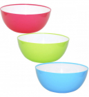 Салатница Rodos пластиковая двухцветная 4200мл круглая