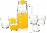 Набор для напитков Oakley 6 стаканов 230мл и графин 820мл с крышкой