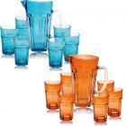 Набір для напоїв Oakley Colour 6 склянок 320мл і графін 1.2л