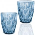 Набір 6 склянок Elodia Грані 280мл, кобальтове скло