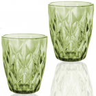 Набір 6 склянок Elodia Грані 280мл, смарагдове скло