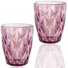 Набір 6 склянок Elodia Грані 280мл, рожеве скло