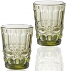 Набор 6 стаканов Elodia Винтаж 280мл, изумрудное стекло