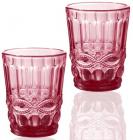 Набір 6 склянок Elodia Вінтаж 280мл, рожеве скло