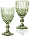 Набор 6 бокалов для вина Elodia Винтаж 340мл, изумрудное стекло
