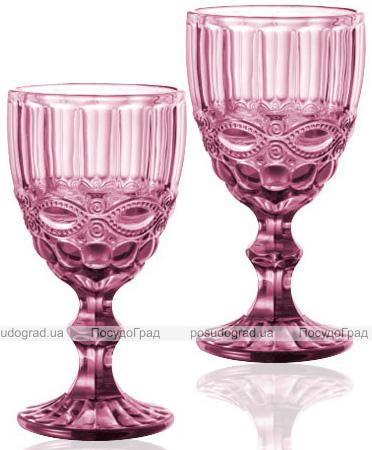 Набір 6 келихів для вина Elodia Вінтаж 340мл, рожеве скло