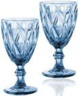 Набор 6 бокалов для вина Elodia Грани 320мл, кобальтовое стекло