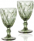 Набор 6 бокалов для вина Elodia Грани 320мл, изумрудное стекло