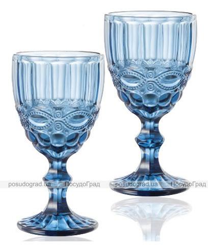 Набор 6 бокалов для вина Elodia Винтаж 260мл, кобальтовое стекло
