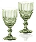Набор 6 бокалов для вина Elodia Винтаж 260мл, изумрудное стекло