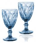 Набор 6 бокалов для вина Elodia Грани 260мл, кобальтовое стекло