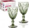 Набор 6 бокалов для вина Elodia Грани 260мл, изумрудное стекло