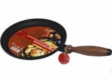 Сковорода блинная чугунная Черный Чугун Ø24см с деревянной ручкой