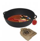 """Сковорода-жаровня чавунна """"Чорний Чавун"""" Ø24см з двома литими ручками"""