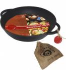 """Сковорода-жаровня чавунна """"Чорний Чавун"""" Ø28см з двома литими ручками"""
