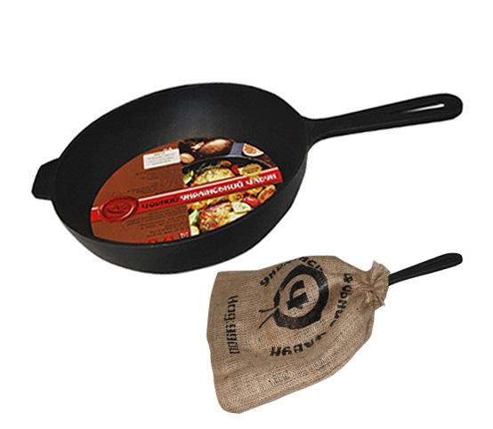 """Сковорода-сотейник """"Черный Чугун"""" Ø24см с литой ручкой"""