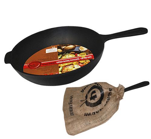 """Сковорода-сотейник """"Черный Чугун"""" Ø26см с литой ручкой"""