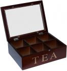 Коробка-шкатулка для чая TEA 6-ти секционная 24x18x8см